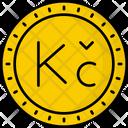 Czech Republic Koruna Coin Money Icon