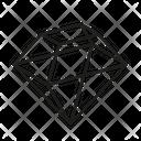 D Diamond Dimond Gem Icon