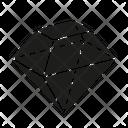 D Diamond Icon