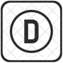 D Letter Function Icon