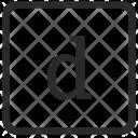 D Lowcase Letter Icon