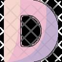 D Sign Alphabet Icon