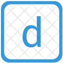 D Lower Case Icon