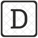 D Uppercase Letter Icon