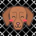 Dachshund Dog Smiling Icon