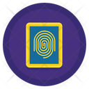 Dactyloscopic Data Finger Print Scanner Icon