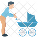 Dad Stroller Father With Infant Icon