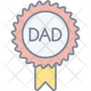 Dad Badge Fathers Day Best Dad Icon