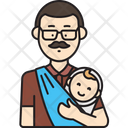 Dad Carrying Baby Icon