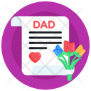 Dad Letter Icon