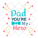 Happy Fathers Day Dad Love Logo Fathers Day Badge Icon
