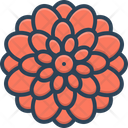 Dahlia Chrysanthemum Decoration Icon