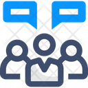 Daily Scrum Meeting Team Meeting Team Chat Icon