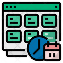 Work Log Daily Timesheet Work Calendar Icon