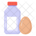 Dairy Items Dairy Products Milk Bottle Icon
