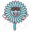 Daisy Cool Expression Floral Character Icon