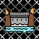 Dam Concrete Color Icon