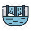Dam Water Ecology Icon