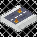 Damage Road Road Earthquake Arterial Road Icon