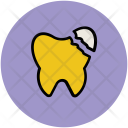 Damaged Tooth Human Icon