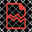 Damaged Broken Text Icon