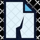 Damaged File Document Icon