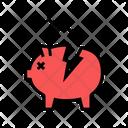 Damaged Money Box Icon