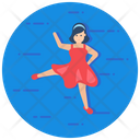 Ballet Dancing Studio Ballerina Icon