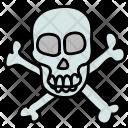 Poisonous Danger Skull Icon