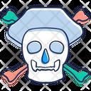 Danger Crossbones Skull With Crossbones Icon