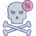 Coronavirus Dangers Covid 19 Warning Bones Icon