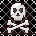 Danger Skull Anatomy Crossbones Icon