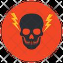 Danger Skull Skeleton Icon