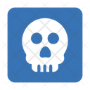Danger Exclamation Skull Icon