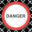 Danger Ahead Road Icon