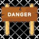 Road Board Danger Board Signpost Icon