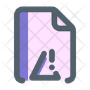 Danger Document Format Icon