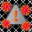 Covid Danger Risk Icon