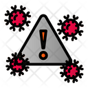 Covid Danger Risk Icon
