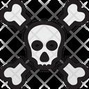 Dangerous Halloween Human Bones Icon