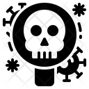 Solid Virus Glass Icon