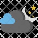 Dark Clouds Moon Icon