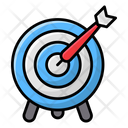 Dartboard Archery Bow Arrow Icon