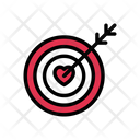 Dartboard Target Love Icon