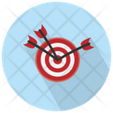 Dart Arrows In The Middle Icon