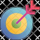 Dartboard Aim Arrow Icon