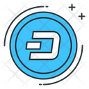 Dash Altcoin Digital Icon