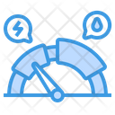 Dashboard Meter Hev Level Icon