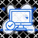 Dashboard Report Data Analytics Business Infographic Icon