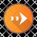 Dashed Arrow Navigation Icon